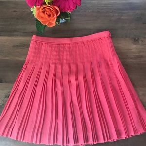 J. Crew Pink Pleated Skirt, Size 0